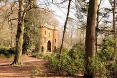 Tower gate in Brasschaat, Belgium Royalty Free Stock Image