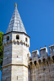 The tower of Gate of Salutation in Topkapi Palace, Istanbul Royalty Free Stock Photography