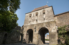 Tower gate in Sighisoara. Historic tower gate in Sighisoara,Romania Royalty Free Stock Photo