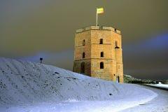Tower of Gediminas castle, symbol of Vilnius city Royalty Free Stock Photography