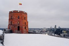 Tower of Gediminas castle, symbol of Vilnius city Stock Image