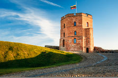 Tower Of Gediminas - Gedimino - In Vilnius. Lithuania. Historic Symbol Of The City Of Vilnius And Of Lithuania Itself. Upper Vilnius Castle Complex. Summer royalty free stock photography