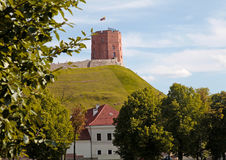 Tower Of Gediminas Gedimino in Vilnius, Lithuania. Historic symbol of The City of Vilnius. selective focus royalty free stock photos