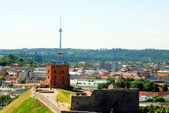 Tower of Gediminas - Symbol of Vilnius on the hill Royalty Free Stock Photo