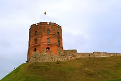 Tower of Gediminas, symbol of Vilnius. Summer Stock Photo