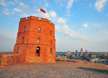 Tower of Gediminas, Vilnius city, Lithuania Stock Photo