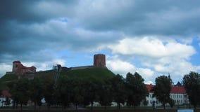 Tower of Gediminas, Vilnius, Lithuania stock footage