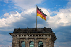 Tower with German flag Stock Image