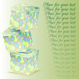 Tower of gift boxes Royalty Free Stock Photos