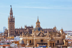Tower Giralda, Cathedral of Saint Mary of the See, Seville Royalty Free Stock Images
