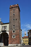Tower of Girone part of Basilica Palladiana stock image