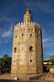 Tower of gold in Seville. Monument in Seville - Tower of gold, (Torre del Oro) in Spain Stock Photo