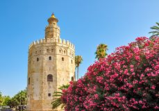 Tower of Gold Torre del Oro, Seville, Spain stock image