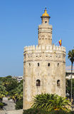 Tower of Gold (Torre del Oro) in Seville, Spain. Image of The Torre del Oro a military watchtower on the  Guadalquivir river in Seville, Spain Stock Photos