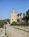 Tower of Gold (Torre del Oro) in Seville, Spain. Image of The Torre del Oro a military watchtower on the  Guadalquivir river in Seville, Spain Royalty Free Stock Photography