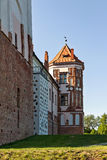 A Tower of Gothic Castle in Mir (Belarus). Royalty Free Stock Photography