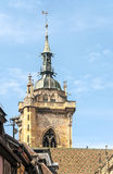 Tower of the gothic church Royalty Free Stock Photos