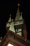 Tower gothic details night scene Royalty Free Stock Photography