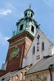 Tower of gothic Wawel Cathedral in Krakow,Poland, unesco Stock Photo