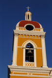Tower from Granada cathedral with a bell Stock Photos