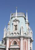 Tower of the Grand Palace of Tsaritsyno Stock Images