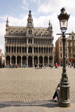 The tower on Grand Place. Or Grote Markt in Brussels. Belgium stock photos