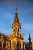 Tower in Grand Place, Bruxelles, Belgium Stock Images