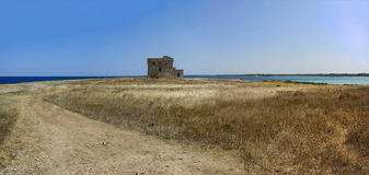 Tower guaceto bay panorama torre sea Royalty Free Stock Images