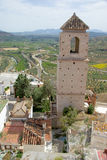 Tower of Guadalhorce, Spain. Tower of Guadalhorce, view from the top Royalty Free Stock Image