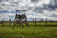 Tower. Guard tower, Auschwitz II-Birkenau, Poland Stock Photography