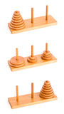 The tower of hanoi isolated on white Stock Photography