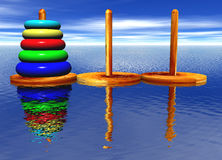 Tower of Hanoi Toy Puzzle Royalty Free Stock Photos