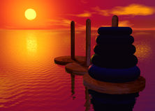 Tower of Hanoi Toy Puzzle Royalty Free Stock Images