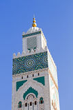 Tower from the Hassan II Mosque Casablanca Morocco Stock Photo