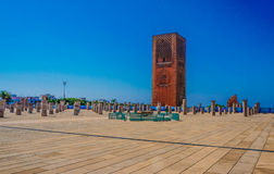 Tower hassan a rabal Morocco Royalty Free Stock Photos