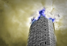 Tower in the heavens Royalty Free Stock Images