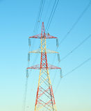 Tower of heavy power line Stock Images