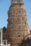Tower of the Hellenistic Gate. In the ancient Greek city of  Perge,  Turkey Stock Image