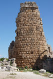 Tower of the Hellenistic Gate. In the ancient Greek city of  Perge,  Turkey Royalty Free Stock Photography