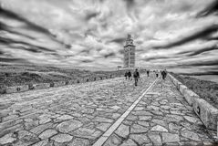 Tower of Hercules in A Coruna, Galicia, Spain. Europe Royalty Free Stock Image