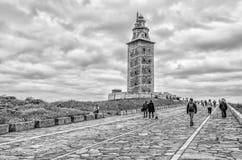 Tower of Hercules in A Coruna, Galicia, Spain stock photo