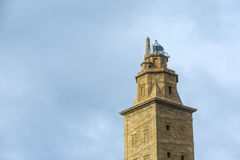 Tower of Hercules in A Coruna, Galicia, Spain. Stock Images