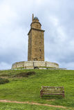 Tower of Hercules in A Coruna, Galicia, Spain. Royalty Free Stock Photos