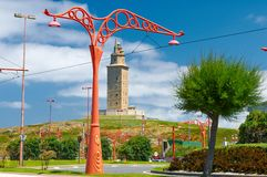 Tower of Hercules in A Coruna. Spain Royalty Free Stock Image