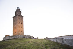 Tower of hercules nine. Tower of hercules on the coast of galicia Stock Images