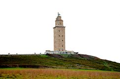 Tower of Hercules, World Heritage. Tower of Hercules, it is an old lighthouse that still works, patrimony of the humanity. Located in A Coruña, province of A Royalty Free Stock Photo
