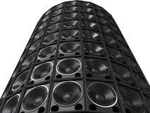 Tower of hifi bass speakers Royalty Free Stock Photo