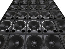 Tower of hifi subwoofer speakers Royalty Free Stock Image