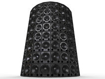 Tower of hifi woofer speakers Stock Photos