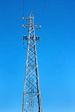 Tower of high voltage electric power Royalty Free Stock Image
